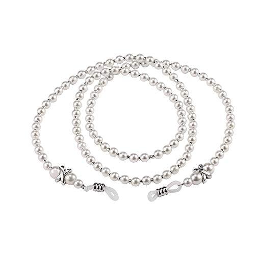 Frauen Handgemachte Mode Nachahmung Perle Perlen Brillen Eyewears Sonnenbrille Gurt Seil Lesebrille Kette Kabelhalter preisvergleich