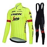 Sports Thriller Rider XiXiMei EU RG8 Mountain Bike Fahrradbekleidung für Herren MTB Fahrrad Radtrikot Langarm Thermisch Warm Jacke und Trägerhose Anzug 5X-Large