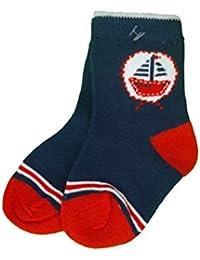 Baby Bio Socken blau mit Schiff Gr.74/80