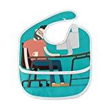 Sleepy Office Pigro Lavoro Stanco Persone Morbido Lavabile Macchia E Odore Resistente Alimentazione Del Bambino Dribolo Drool Bavaglini Panni Burp Per Neonato Complessivo Per 6-24 Mesi Bambini Regali
