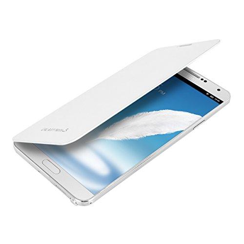 kwmobile Flip Case Hülle für Samsung Galaxy Note 3 - Aufklappbare Schutzhülle Tasche im Flip Cover Style in Weiß