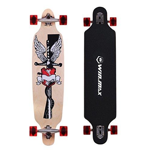 Gemtune WIN.MAX 9 di skateboard strati Acero modello doodle pattinaggio concavo - Longboard Rotolo