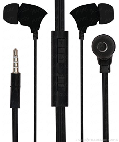 With Volume Control In Ear Bud Headset Earphones With Mic Compatible For Panasonic T41 8GB -Black  available at amazon for Rs.230