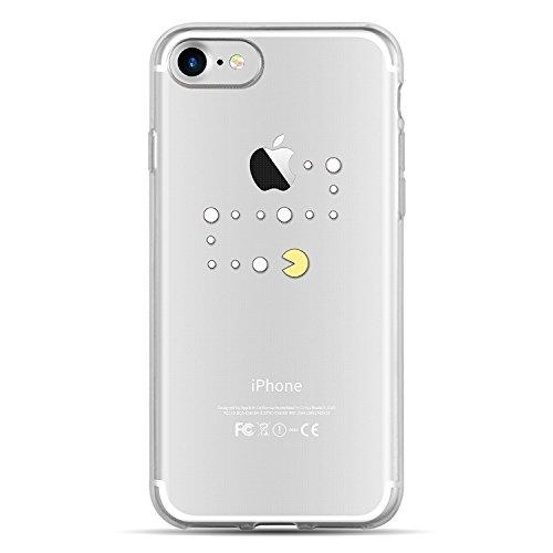Blitz® JOKE Schutz Hülle Transparent TPU Cartoon Comic Case iPhone YO! DOG iPhone 6 6s PACMAN