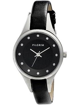Pilgrim Damen-Armbanduhr XS Analog Quarz Leder 701426104