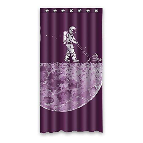 """Il grande dell' universo. Astronauti camminare sulla superficie della luna esplorare il mistero della luna. Sfondo è il colore di denim design poliestere tessuti impermeabile bagno doccia tenda 91,4x 182,9cm (90cm x 183cm), Poliestere, C, 36"""" x 72"""""""