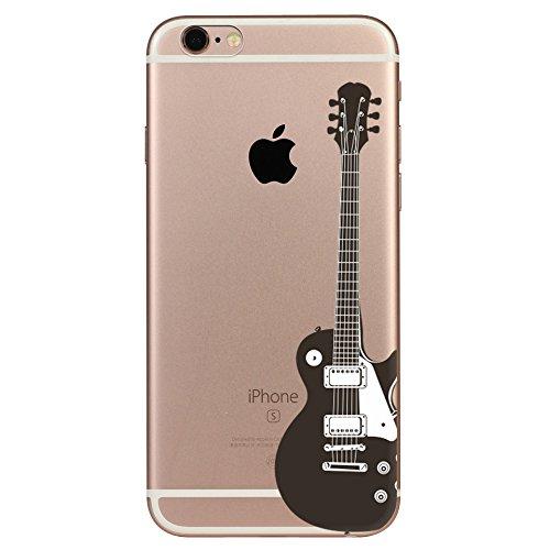 IPhone 6 plus Hülle, Schutzhülle Case Silikon- Clear Ultra Dünn Durchsichtige Backcover TPU Case für iPhone 6plus 6splus Gitarre