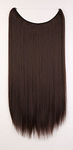 S-noilite-20-One-Piece-Half-Full-Head-Secret-Miracle-Wire-in-Hair-Extensions-Ombre-Straight-Hairpieces-Medium-brown
