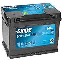 Car Battery EK600 12AV 60AH AGM Exide Start Stop preiswert