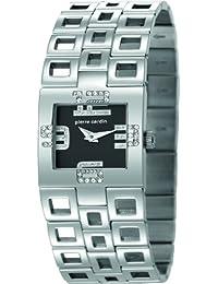 Pierre Cardin Damen-Armbanduhr Watch Calligraphie Analog Quarz Edelstahl