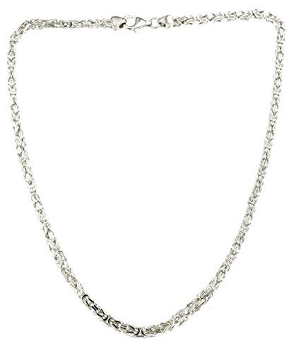 Königskette 925 Silber 3 mm 65 cm Silberkette...