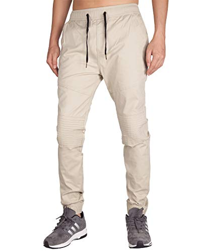 ITALY MORN Pantalones Jogger Pare Hombre Beige Skinny