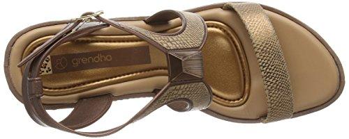 Femme Grendha Sandalo Glam Sandales Serpente Bronzo Fem Plat wwq1v6X