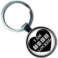 """Sherlock Holmes """"I am sherlocked."""" Silver Keychain Silber Schlüsselanhänger"""