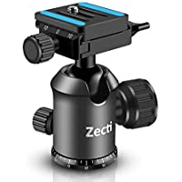 Zecti Ball head Rótula de bola para tripode con placa de liberación rápida (Inclu montaje de tornillo de 1/4 Pulgada para videocámara DSLR), Capacidad de Carga 8 Kg