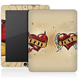 Apple iPad 1 Aufkleber Schutz Folie Design Sticker Skin Liebe HASS Herz
