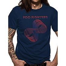 THE FOO FIGHTERS, LOOPS LOGO navy T-SHIRT S M L XL XXL