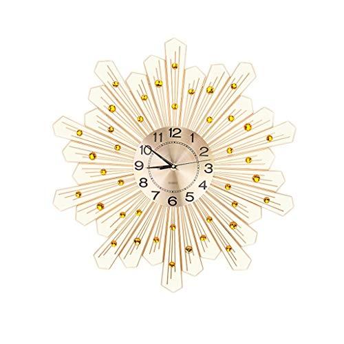 YHEGV Moderne, einfache Persönlichkeit Wanduhr Kristall 20 cm im Durchmesser von Gold 69 69 cm (Farbe: Gold)