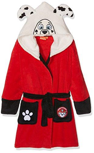 Nickelodeon Paw Patrol Pup Head, Robe de Chambre Garçon, Red, 4-5 Ans