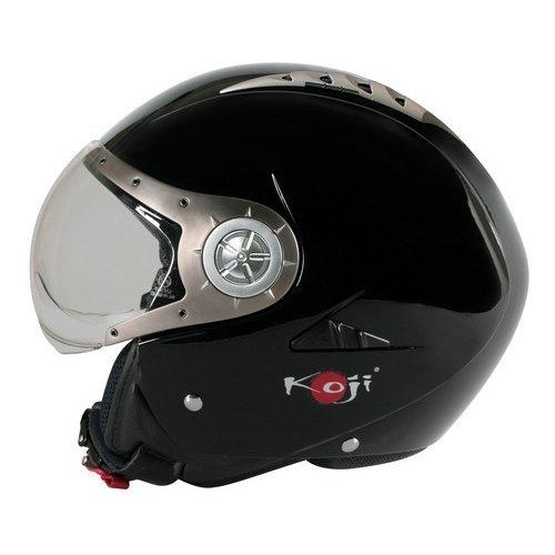 Casco jet termoplastico Tomcat Nero L