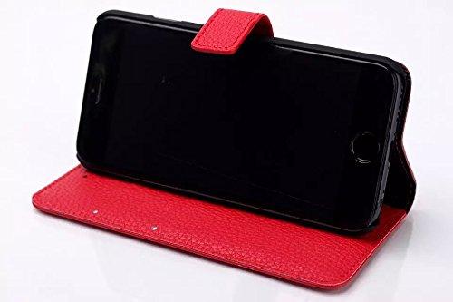 iPhone Case Cover la peau de cuir cas litchis modèle iphone 6 6 ( Color : Brown , Size : IPhone 6 6s ) Red