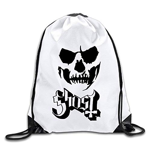 DHNKW 2017 Carolina Rebellion Ghost BC Logo Drawstring Tote Backpack Canvas Bag