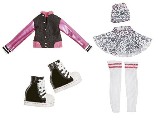 Bratz Fashion Pack # 6-Zubehör für Puppen (Schwarz, Grau, Pink, weiß, Kunststoff, CE)