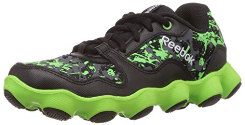 Reebok Boy's Atv19 Ultimate Black, Green, Grey and White Polyester Sports Shoes – 1.5 UK 41XNRX61jNL