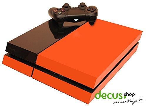 Play Station PS4 Skin Sticker Aufkleber Dekor Design Folie Schutz - Orangen Dekor