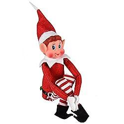 Questo peluche adorabile di elfi si siede e guarda la tua casa a Natale. Riporta a Santa per dirgli se sei stato cattivo o bello! adatto come regalo o decorazione. Ha un morbido corpo peluche e una testa in vinile. adatto per età 3+