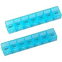 OUNONA 7 Tage wöchentlich Pille Medizin Aufbewahrungsbox Container Dispenser Case 14 Fach preisvergleich bei billige-tabletten.eu