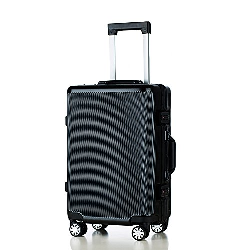 クロース(Kroeus)スーツケース キャリーケース 旅行用品 TSAロック搭載 機内持込可 大容量 軽量 耐衝撃 4輪ダブルキャスター 静音 m ブラック
