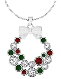 IskiUski  White Gold, Diamond And Ruby Pendant For Women