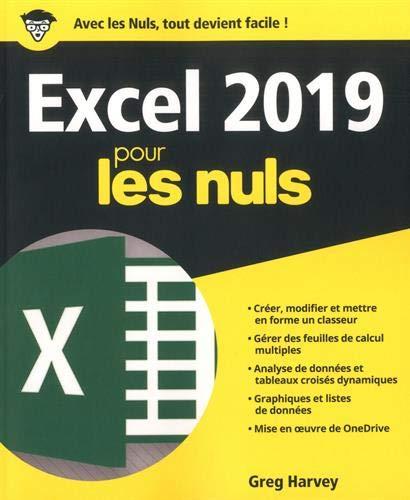 Excel 2019 pour les Nuls par Greg HARVEY