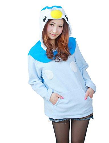 Wamvp Sweats à Capuche Anime Hoodie Manches Longues Kigurumi Halloween-Pingouin bleu M