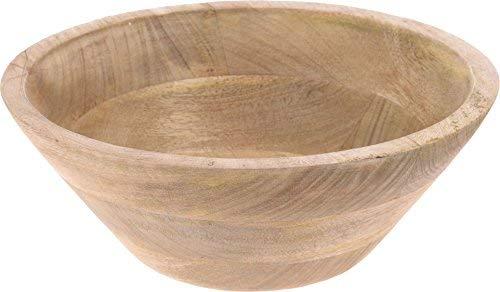 Spetebo Holz Dekoschale Ø 25 cm - Tischdeko Schale Obstschale Holzschale