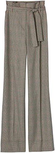 FIND Pantalón de Cuadros Estilo Sastre para Mujer, Multicolor (Check), X-Large