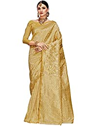 Saree Mall Women's Silk Saree With Blouse Piece (Kumd35010_Gold)