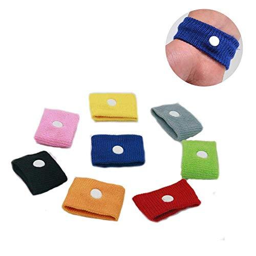 Pawaca 8 Paar Akupressur Armband Anti-Übelkeit Relief Armbänder Reisen Seekrankheit Armbänder für Erwachsene Kinder und Schwangere -