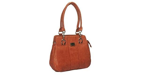 NOVICZ Latest Trendy PU Leather Ladies Bag Beautiful Shoulder Bag Women S  Hand Bag Vanity Bag College Bag Brown Colour  Amazon.in  Bags f9bf5dcb03239