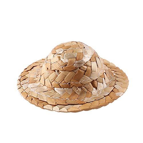 CXZC Weinlesestroh-spinnender Hut, hängender Hut-Stroh-Bootsfahrer-Feste Webart-hoher Grad Machen - Halloween Spielzeug für Baby / Kinder