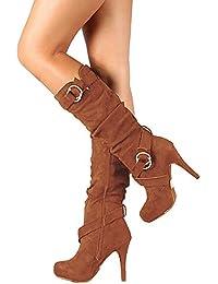 ODEMA botas piel mujer tacon invierno