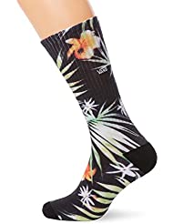 vans Herren Sportsocken Decay Palm Crew (9.5-13, 1P), Mehrfarbig (Black Decay Palm Kvr), One Size