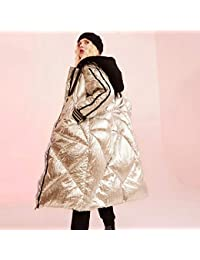 GUXIU Abrigo Mujer Chaqueta de Invierno 90% Blanco Chaqueta de Abajo Sólido Completo Casual Plateado…