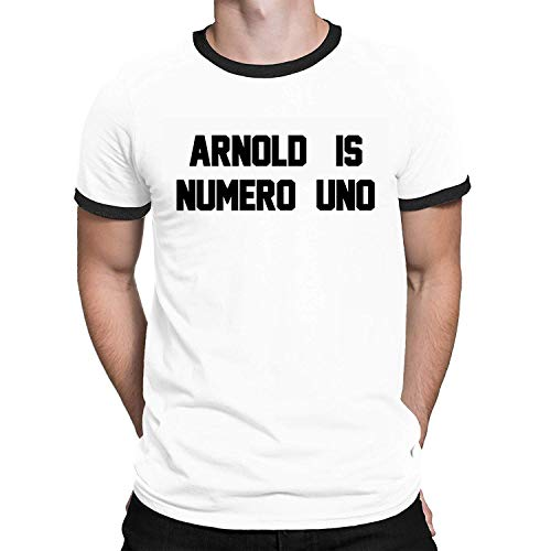 Arnold is Numero UNO Funny Mens Ringer T-Shirt Retro ()