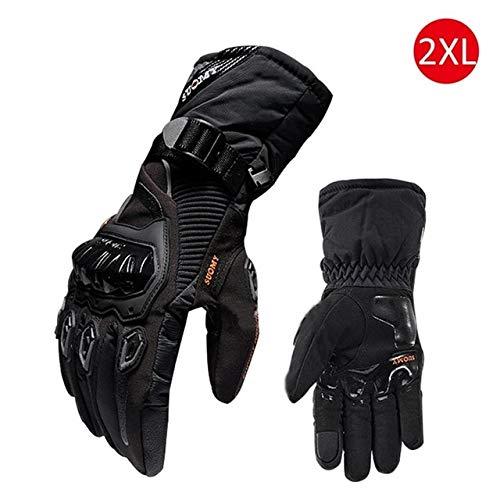 Bruce Dillon Nuovi guanti da moto invernali impermeabili e caldi Four Seasons Riding Motorcycle Rider Anti-Fall Guanti da fondo - Nero X XXL