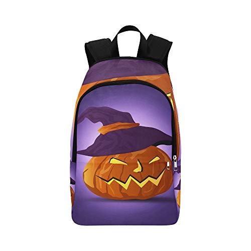 (Vektor Nacht Halloween Kürbis Hexen Hatdark Casual Daypack Reisetasche College School Rucksack für Männer und Frauen)