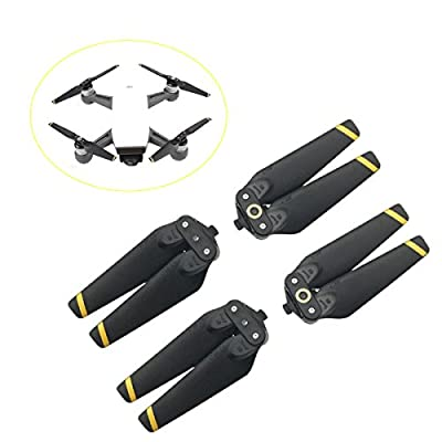 Dji Spark 2 Pairs Propellers Quick Release Props Foldable Propellers 4 Pieces Accessories Replacement for your Dji Spark Drone by Crazepony-UK