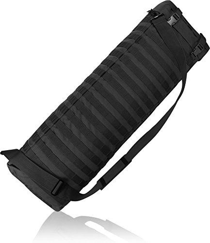 Gepolsterte Gewehrtasche oder -Rucksack für Langwaffen Schwarz