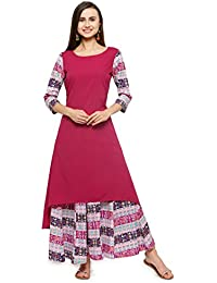 Flared Kurta With Matching Palazzo